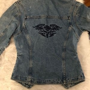 Biker Blues Harley Davidson women's jean jacket